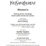 YSL Sample Sale June 2012