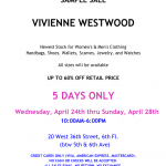 Vivienne Westwood Sample Sale April 2013