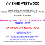 Vivienne Westwood Sample Sale Nov 2013