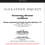 Alexander Mcqueen Sample Sale Sep 2014